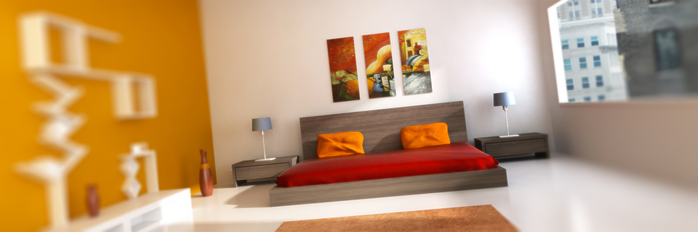 Interior rendering stanza da letto New York con 3ds Max e VRay | LiCausi Studio